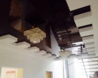 Потолок в стиле шахматной доски